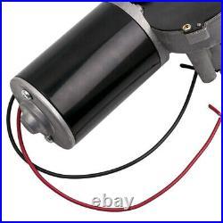 24V DC Electric Gearmotor Speed Torque Reversible Adapter Gear Box Motor 45W