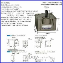 2GN 3GN 4GN 5GN Gear Head Box 3180K with Out Shaft Reducer for AC Induction Motor
