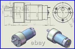 50GB555 Metal Gear Box Reducer Motor DC 12V Reversible Drive Motors 50RPM/300RPM