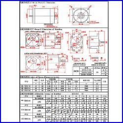 5d90gn Micro DC 12v/24v Gearmotor Metal Gear Box Motor 90w Silent 10rpm 600rpm