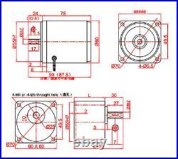 AC 220V Gearmotors 10 500 RPM High Torque Reduction Gear Box Motor 2I/RK6GN-C