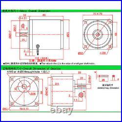 AC 220V Gearmotors 10 500 RPM High Torque Reduction Gear Box Motor 3I/RK15GN-C