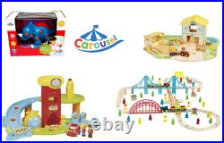 Carousel Wooden Train/Farm/Car Park Kids/Toddlers play sets Brand New & Boxed