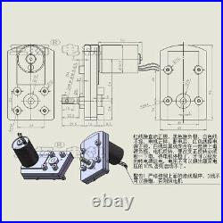 DC12V 24V 5-90RPM 100FH Brushless DC Geared Motor with Gear-Box For DIY Robot
