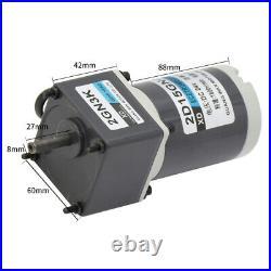 DC 12V 24V Gearmotors 10 600 RPM High Torque Reduction Gear Box Motor 2D15GN-C