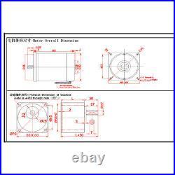 DC 12V 24V Gearmotors 10 600 RPM High Torque Reduction Gear Box Motor 2D30GN-C