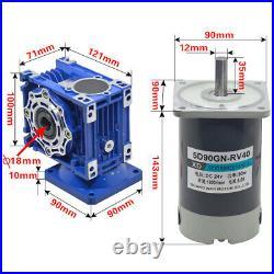 DC 12v/24v Nmrv40 Worm Gear Speed Reducer Gear Box Motor 90w Gearmotors Xd5d90