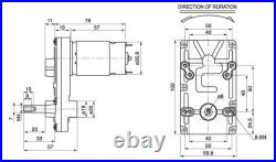 DC Gear Box Electric Motor Gear Mptor Low Speed High Torque 35kg. Cm Reversible