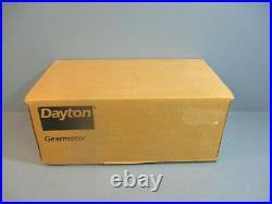 Dayton 1LPL1 DC Industrial Gear Motor 90V 1/15HP 6.5RPM NEW IN BOX