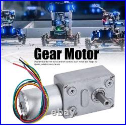 Fafeicy High Torque Turbo Geared Motor DC 12V Self-Locking Reversible Gear Box