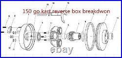 Go kart reverse gear box 150cc kinroad dazon roketa baja blade BMI sahara BMS
