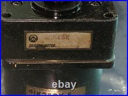 ORIENTAL MOTOR model 4IK25GK-S WITH 45K15K GEAR BOX 80MM 25 WATT 151 CONVEYOR